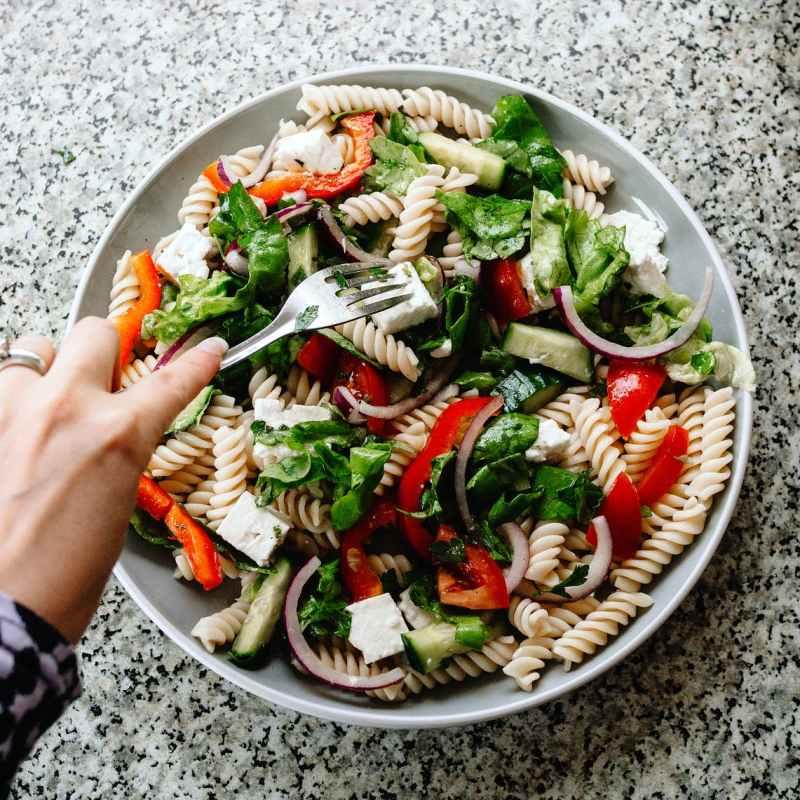 food salad healthy dinner