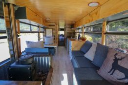 Downsizing Families - We live on a bus - inside the bus. The Leveraged Mama.