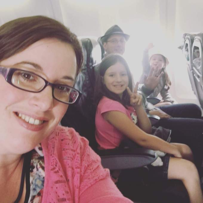 Kat's family travelling. The Leveraged Mama.