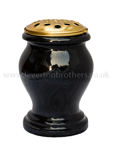 Turned Granite Grave Vase Leverton Brothers