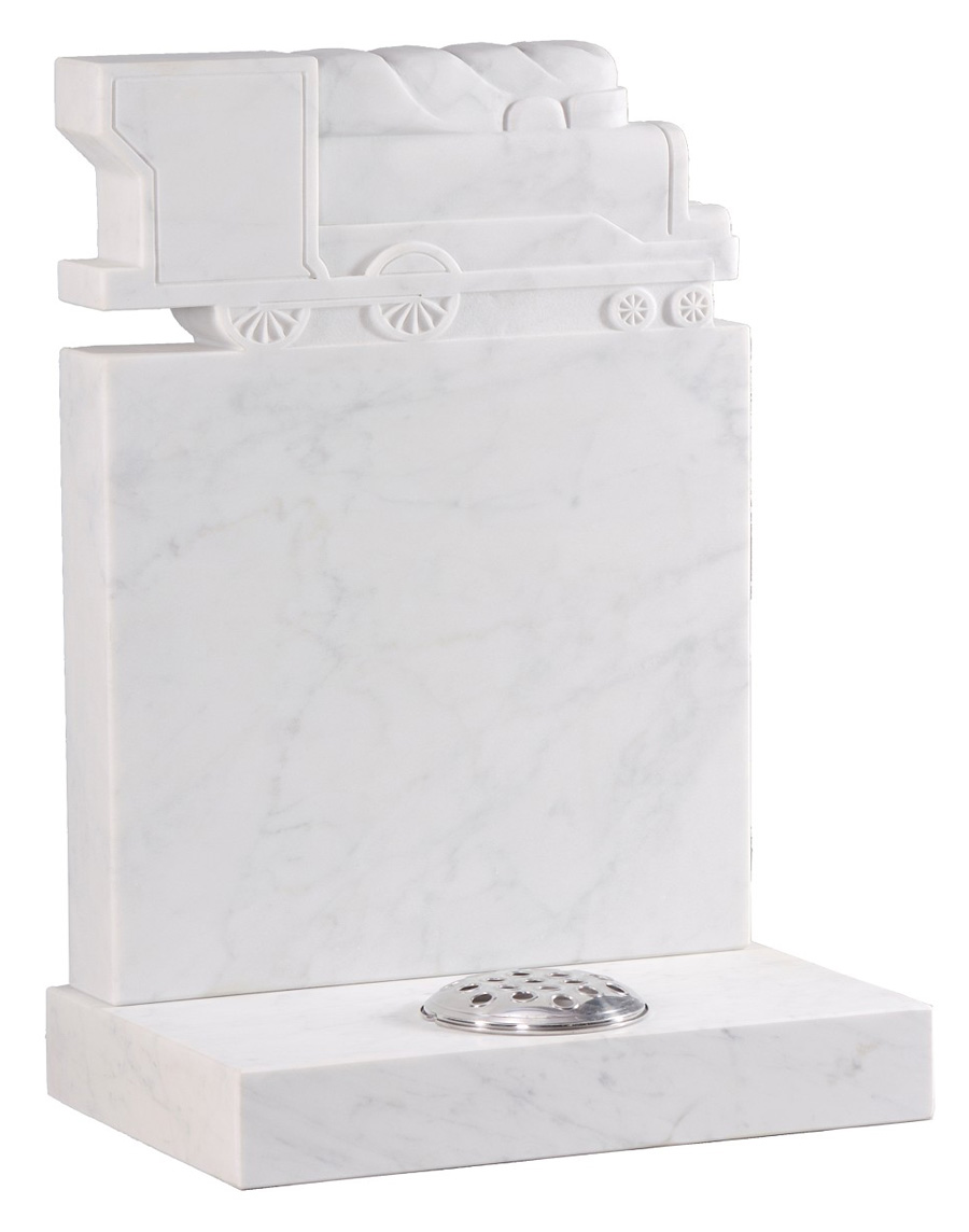 Marble Headstone Choo Choo Train