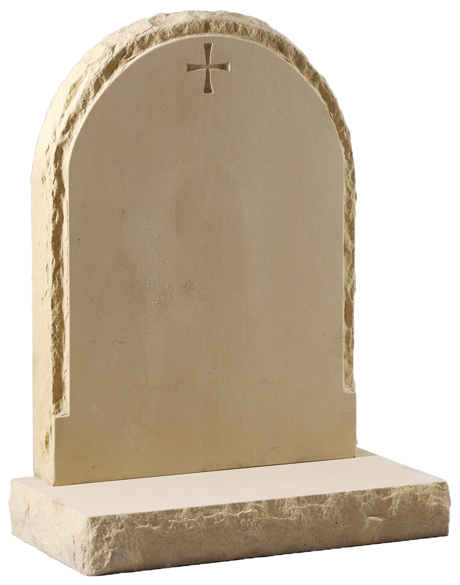 Sandstone Headstone with Natural Edges