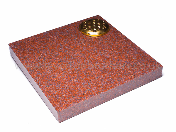 Imperial Red Cremation Plaque