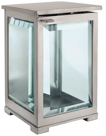 Brushed Stainless Steel Lantern 0123SAT