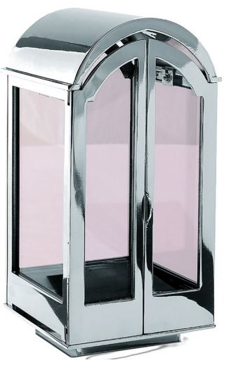 Stainless Steel Lantern with Double Opening Doors 01381