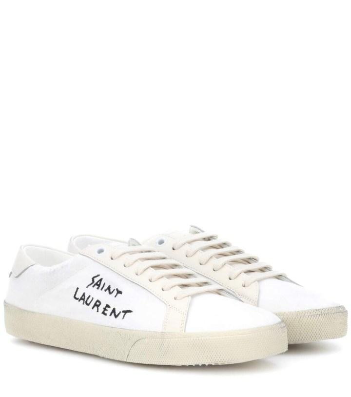 Sneakers en cuir - Saint Laurent