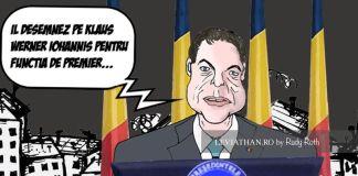 Caricatura Iohannis desemnandu-se premier al Romaniei