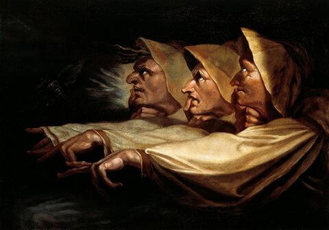 Henry Fuseli Johann Heinrich Füssli cele trei vrajitoare dupa 1783