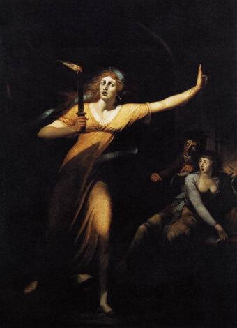 Henry Fuseli Lady Macbeth somnambula cca 1784