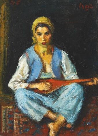 Iosif Iser Tătăroaică cu mandolină