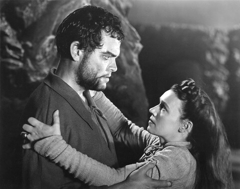 Orson Welles and Jeanette Nolan as Macbeth and Lady Macbeth in Welles 1948 film adaptation of the play