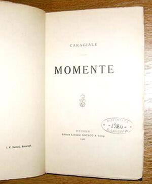editia princeps momente 1901 socec biblioteca d caracostea