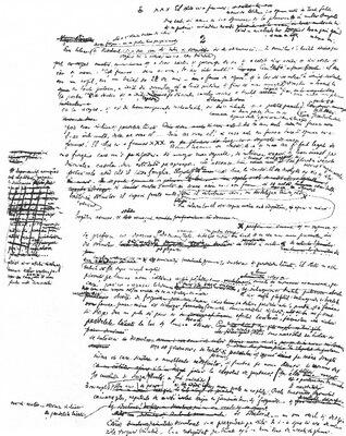 pagina de manuscris caragiale