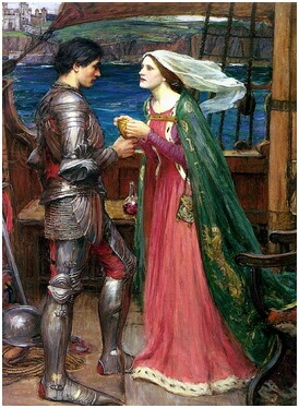 "John William Waterhouse, ""Tristan și Isolda"""