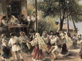 "Theodor Aman, ""Hora de la Aninoasa Dragobete"" dans popular romanesc sarbatoarea dragostei"
