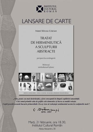 afis-lansare-stircea hermeneutica sculpturii abstracte