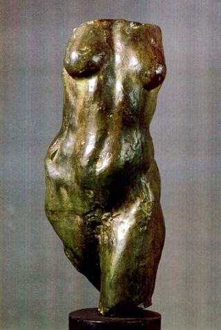 Camille Claudel, Tors de femeie, bronz turnat în tehnica cerii pierdute, patinat brun-verzui, Muzeul Național de Artă al României, București
