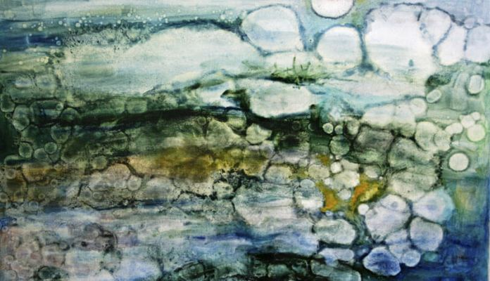Maria Nitulescu - In a state of anger - troubled water oil on canvas