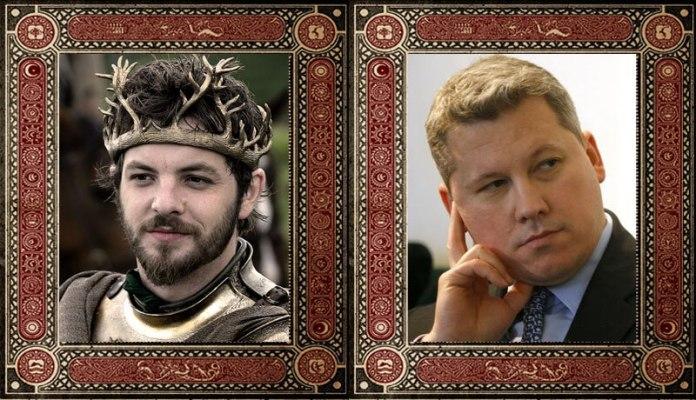 Renly Baratheon Catalin Predoiu Game of Thrones Politicieni Romani