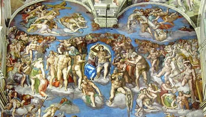 Michelangelo Judecata de Apoi Capela Sixtină Vatican