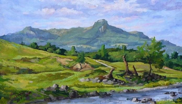 Mihai Coțovanu Peisaj cu Muntele Gutâi