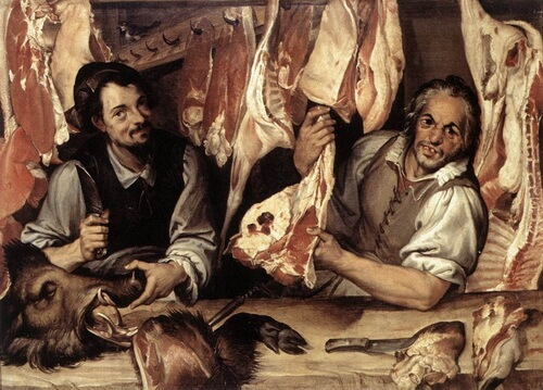 "Bartolomeo Passarotti, ""Măcelărie"", c. 1580"