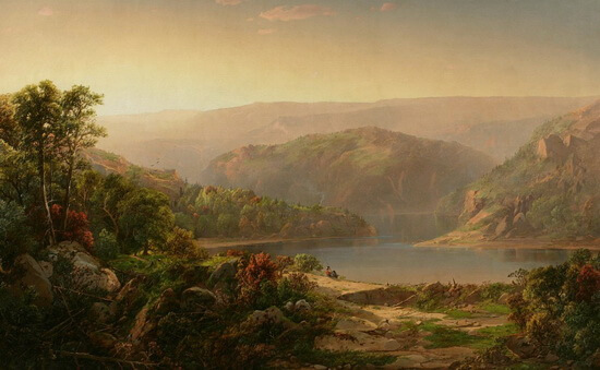"Louisa Davis Minot (1788–1858), ""Dimineață pe Muntele Blue Ridge"""