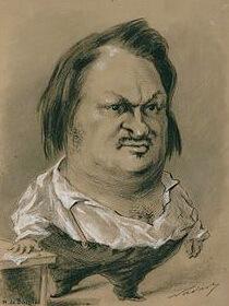 Nadar, Caricatura lui Balzac, 1850