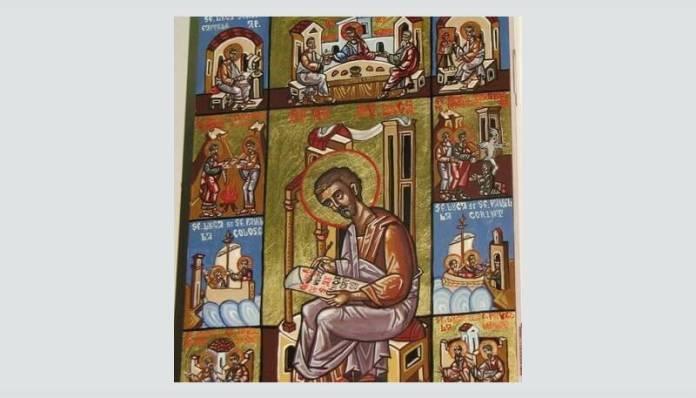 """Claudiu Victor Gheorghiu, """"Sf. Apostol și Evanghelist Luca cu scene din viața sa"""""""