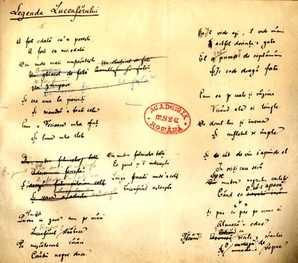 Legenda Luceafarului manuscris eminescian