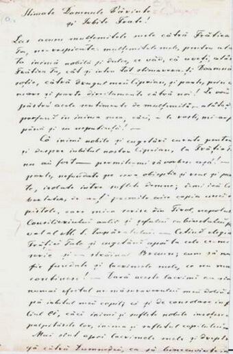 Scrisoare a lui Iraclie Porumbescu către Constantin Morariu