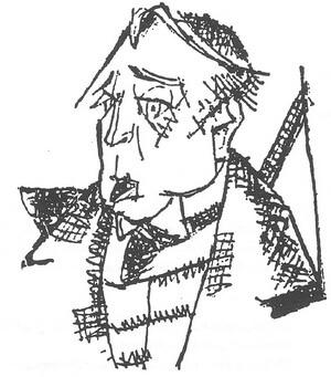 Octavian Goga, desen de Marcel Iancu