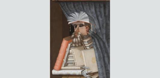 """Giuseppe Arcimboldo, """"Bibliotecarul"""", cca 1566, Castelul Skokloster, Suedia"""