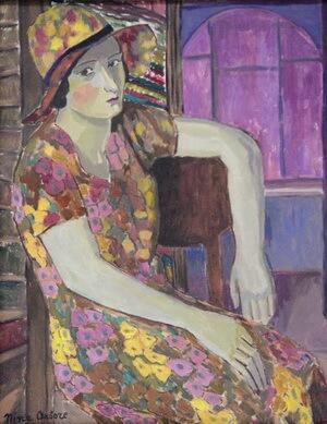 "Nina Arbore, ""Portret de femeie, 1927"