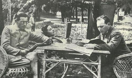 Panait Istrati și iubita sa, Bilili (Marie-Louise Baud-Bovy, 1902–1990) în a doua parte a călătoriei în URSS, 1928. Sursa foto Margareta Istrati