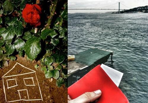 Hârtiile cu dorințe se aruncă în apă