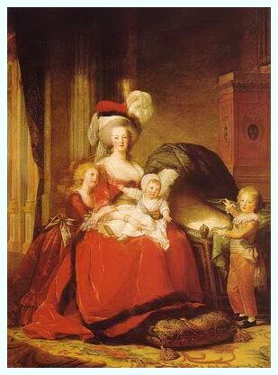 """Élisabeth Vigée Le Brun (16 aprilie 1755–30 martie 1842), """"Maria Antoaneta și copiii săi"""", 1787"""