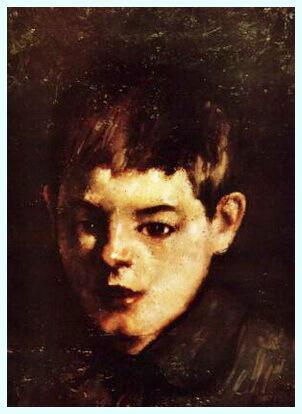 """Ştefan Luchian, """"Cap de copil, c. 1909"""