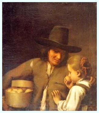 """Atelier olandez, secolul al XVII-lea, """"Vânzătorul de lămâi"""", Muzeul Brukenthal, Sibiu"""