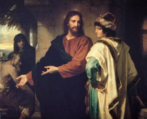 "Heinrich Hofmann, ""Iisus Christos și tânărul conducător bogat"""