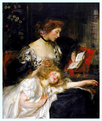 "James Jebusa Shannon (1862–1923), pictor american, ""Sunt un copil"""