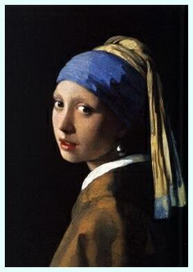 "Jan Vermeer van Delft, ""Fata cu cercel de perlă (Mona Lisa din nord)"", 1665"