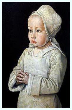 """Jean Hey (Maître de Moulins?), """"Suzanne, fiica doamnei de Beaujeu, ducesă de Bourbon"""", 1492–1493"""