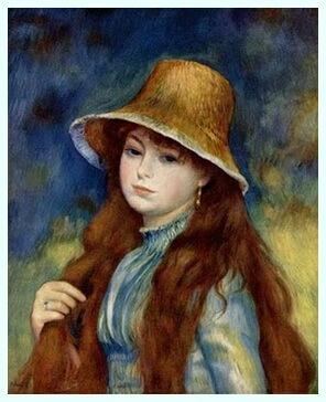 """Pierre-Auguste Renoir, """"Fată cu pălărie de paie"""", 1884"""