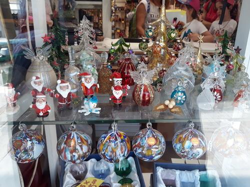 Podoabe de Crăciun din sticlă de Murano