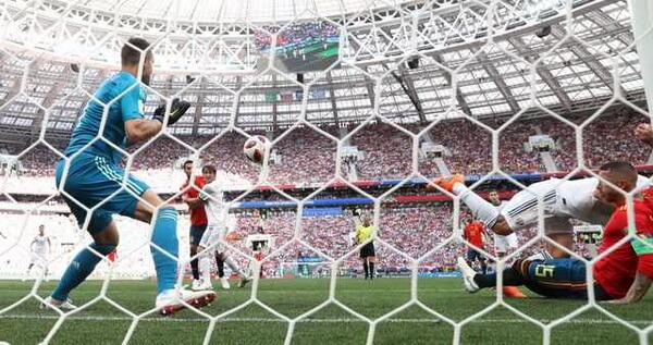 Gol pentru Spania, min. 12. Foto © Carl Recine, REUTERS