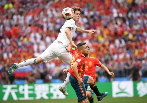 Imagini din meciul Spania – Rusia