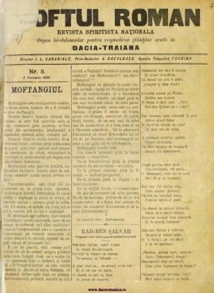 """Moftul român"", seria I, nr. 1, 24 ianuarie 1893, p. 1"