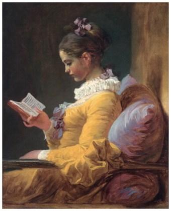 """""""Tânără citind"""", 1770"""