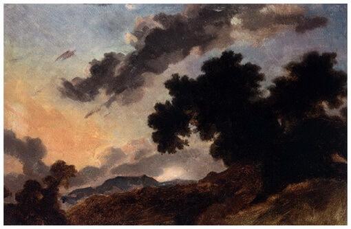 """""""Peisaj montan la apus de soare"""", c. 1765"""